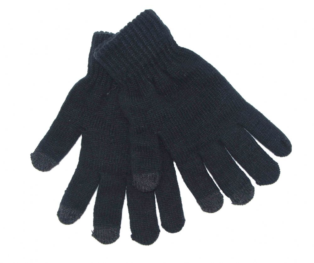 Black touch screen thermal Knitted gloves